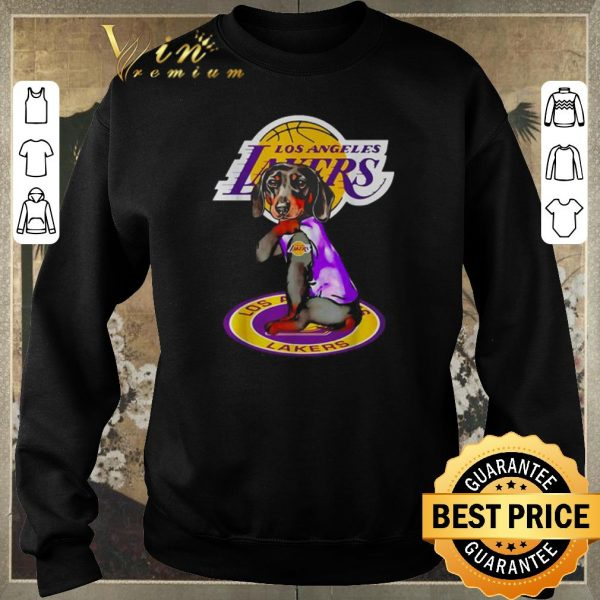 Original Dachshund tattoo Los Angeles Lakers Logo shirt sweater