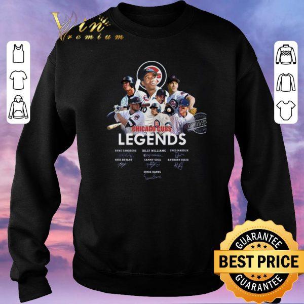 Original Logo Chicago Cubs Legends signatures Greg Maddux Kris Bryant shirt sweater