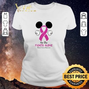 Original Mickey Mouse No One Fights Alone Breast Cancer Awareness shirt sweater 1