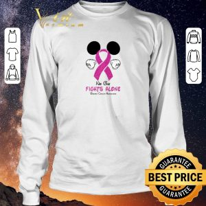 Original Mickey Mouse No One Fights Alone Breast Cancer Awareness shirt sweater 2