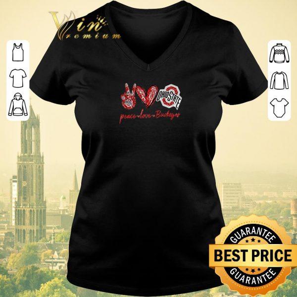 Original Peace love Ohio State Buckeyes shirt sweater