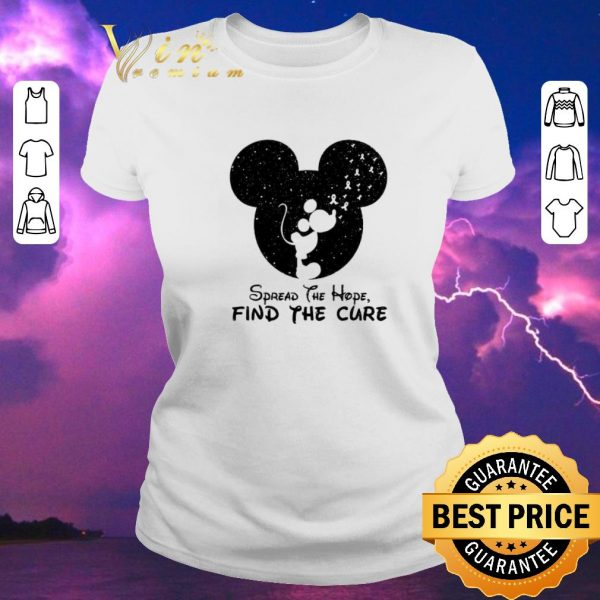 Original Spread The Hope Find The Cure Breast Cancer Awareness Mickey Mouse shirt sweater