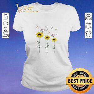 Original Sunflower angel faith hope love shirt sweater 1