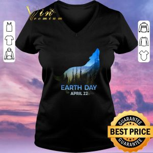 Original Wolf Silhouette earth day 50th anniversary april 22nd shirt sweater