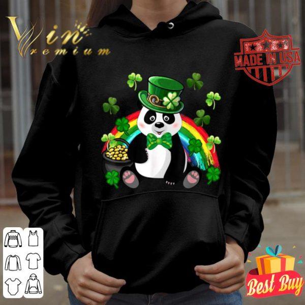 Panda Leprechaun Tee St.Patrick's Day Shamrock Pandas Lover T-shirt