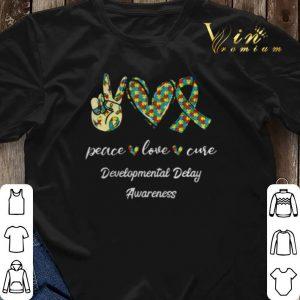 Peace Love Cure Developmental Delay Awareness shirt sweater 2