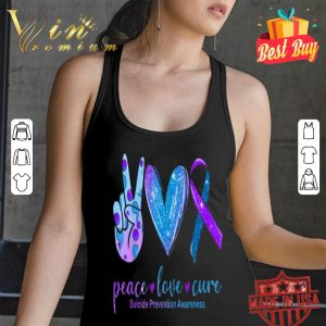 Peace Love Cure Heart Suicide Prevention Awareness shirt