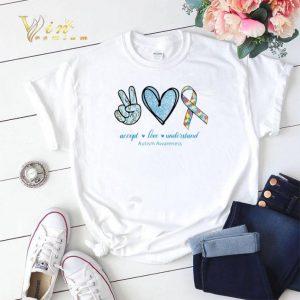 Peace Love Understand Autism Awareness shirt sweater