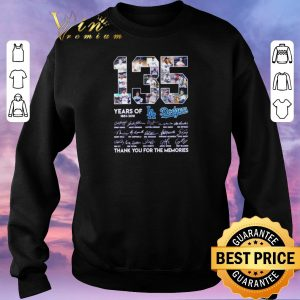 Premium 135 years of Los Angeles Dodgers 1883-2018 signatures shirt sweater 2