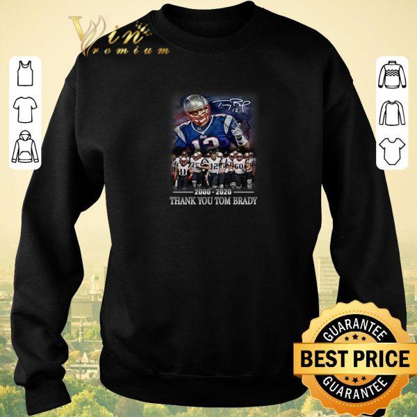 Premium 2000-2020 thank you Tom Brady signature New England Patriots shirt sweater