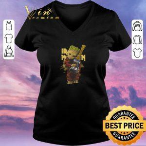Premium Baby Groot hug Iron Maiden guitar shirt sweater