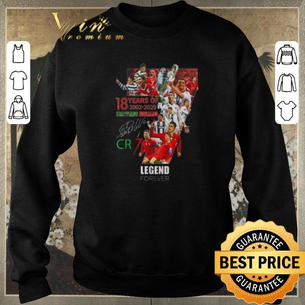 Premium CR7 18 years of 2002 2020 Cristiano Ronaldo legend forever signature shirt sweater