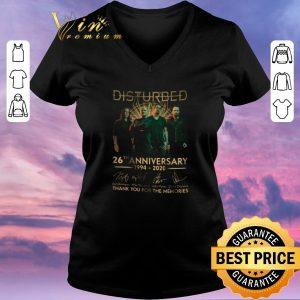 Premium Disturbed logo 26th anniversary 1994-2020 signatures shirt sweater 1