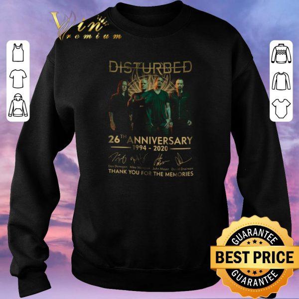 Premium Disturbed logo 26th anniversary 1994-2020 signatures shirt sweater