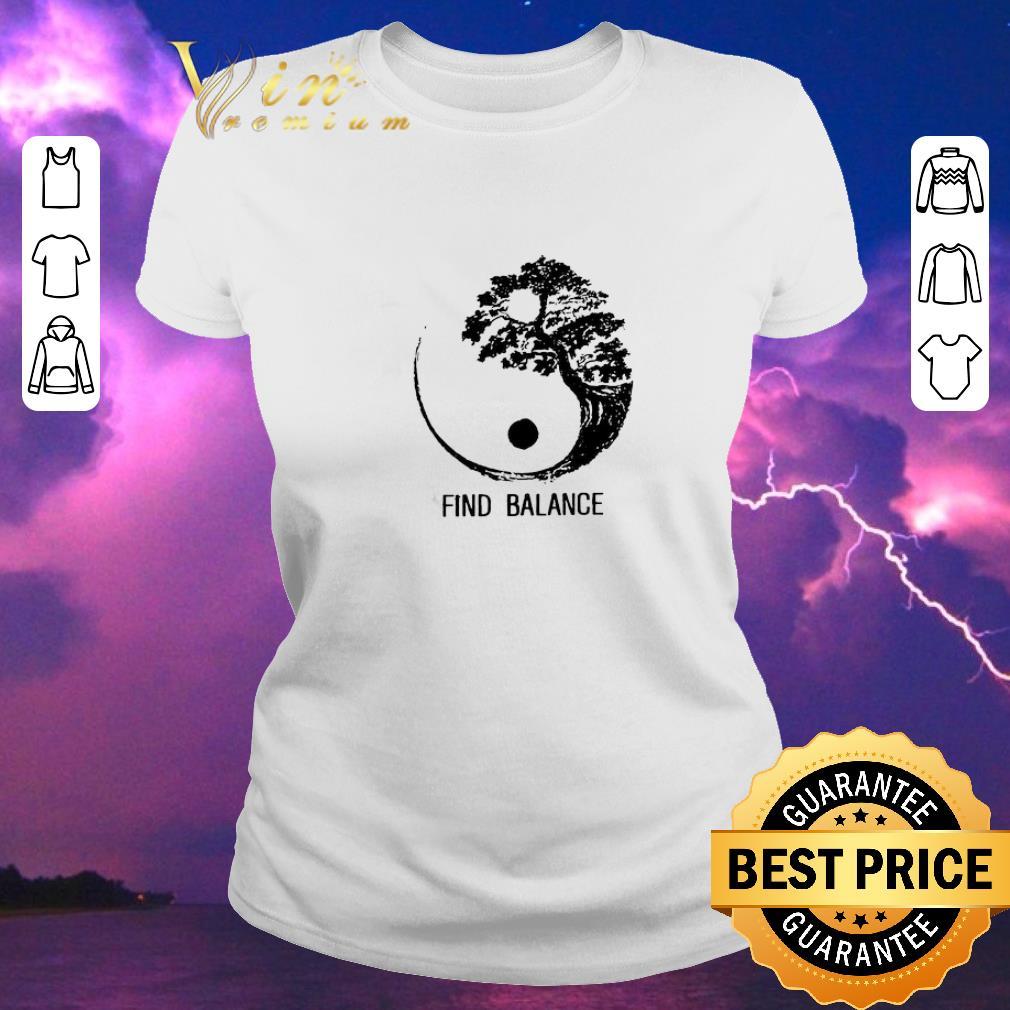 Premium Find Balance Yin Yang Bonsai Tree Japanese Shirt Sweater Hoodie Sweater Longsleeve T Shirt