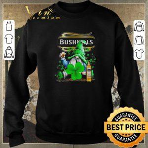 Premium Gnome and Bushmills Irish Whiskey shamrock St Patrick's Day shirt sweater 2
