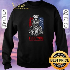Premium I eat you support U.S Zombie Army American flag shirt sweater 2