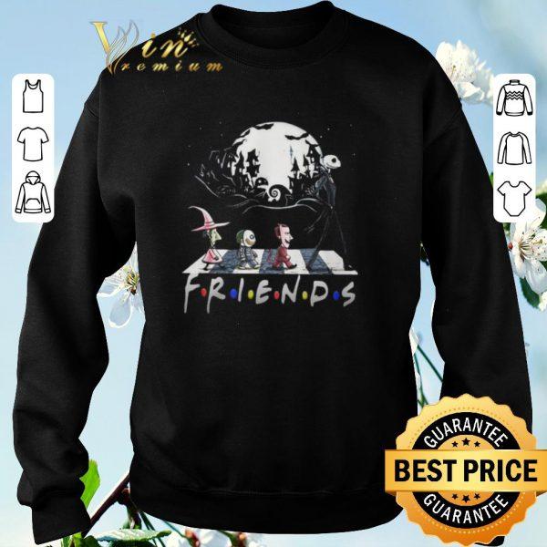 Premium Jack Skellington And Friends Crossing Road Halloween shirt sweater