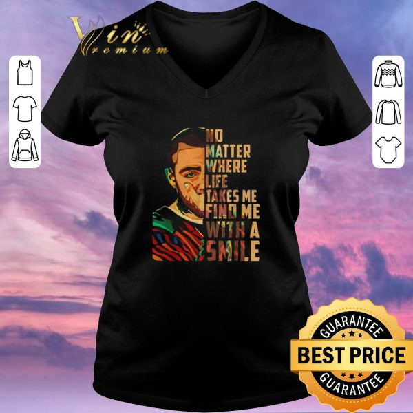 Premium Mac Miller art No matter where life takes me find me with a smile shirt sweater