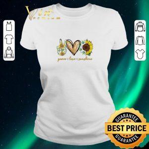 Premium Peace Love Sunshine Weed sunflower shirt sweater 1