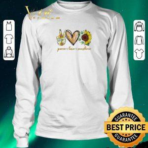 Premium Peace Love Sunshine Weed sunflower shirt sweater 2
