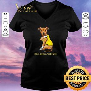 Premium Staffordshire Terrier tattoo i love Spina Bifida Awareness shirt sweater