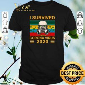 Premium Stormtrooper I survived Covid-19 Coronavirus 2020 vintage shirt sweater