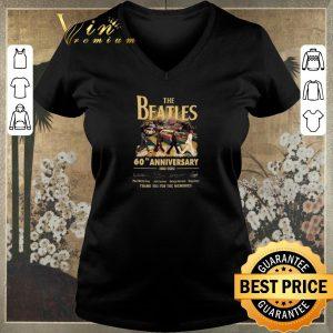 Premium The Beatles Rock band 60th Anniversary 1960-2020 Signatures shirt sweater 1