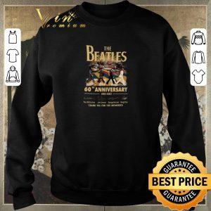 Premium The Beatles Rock band 60th Anniversary 1960-2020 Signatures shirt sweater 2
