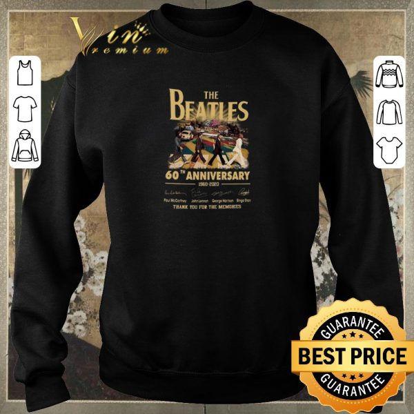 Premium The Beatles Rock band 60th Anniversary 1960-2020 Signatures shirt sweater