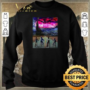Premium Van Gogh Mashup Stranger Things on a Starry Night shirt sweater 2