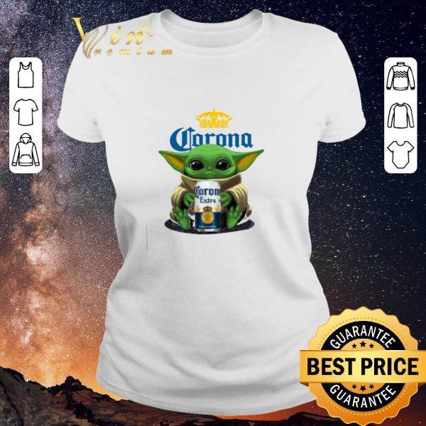 Pretty Baby Yoda hug Corona Extra beer Star Wars shirt sweater