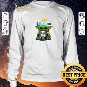 Pretty Baby Yoda hug Corona Extra beer Star Wars shirt sweater 2