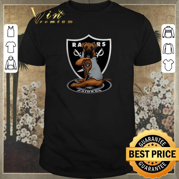 Pretty Boxer tattoo Oakland Raiders Logo shirt sweater