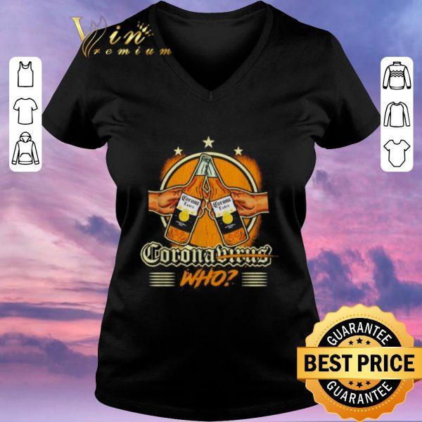 Pretty Coronavirus who beer bottle shirt sweater