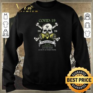 Pretty Covid-19 Corona 2020 pandemic in case of emergency toilet paper shirt sweater 2