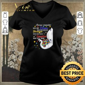 Pretty Elephants Autism always remember you are braver than you believe shirt sweater