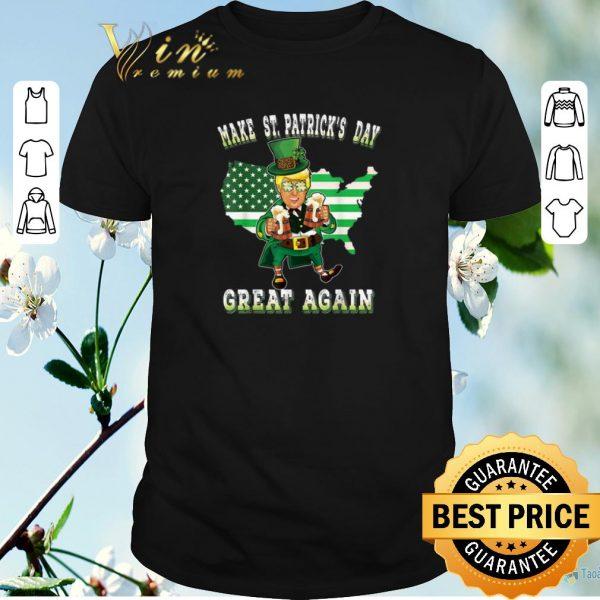 Pretty Make St Patricks Day Great Again Trump Leprechaun shirt sweater