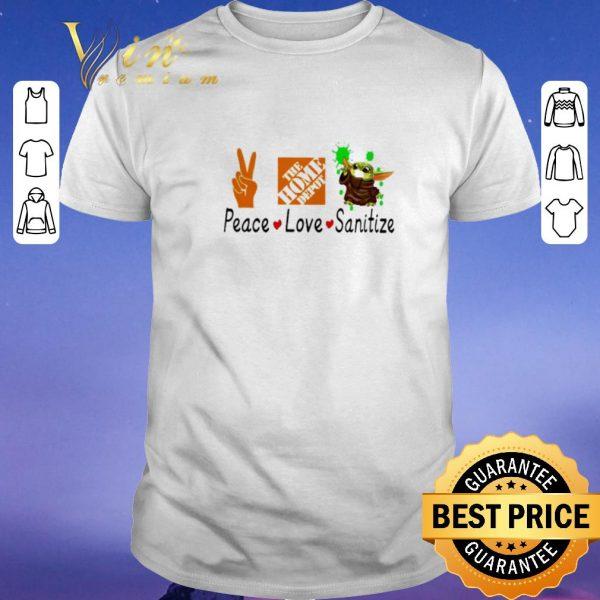 Pretty Peace love Sanitize The home depot Baby Yoda Coronavirus shirt sweater