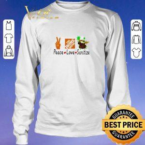 Pretty Peace love Sanitize The home depot Baby Yoda Coronavirus shirt sweater 2