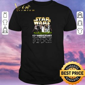 Pretty Star Wars all character 43rd anniversary 1977-2020 signatures shirt sweater
