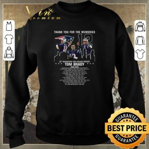 Pretty Thank you for the memories Tom Brady 20th anniversary New England Patriots shirt sweater 2