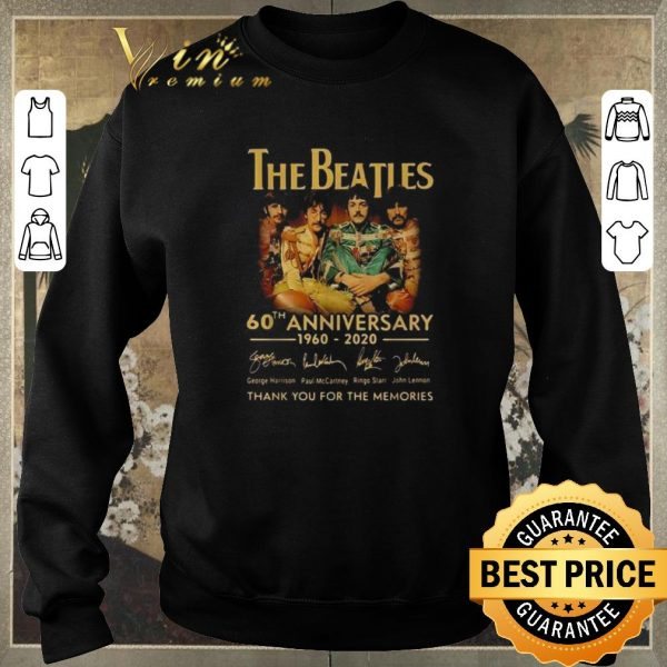 Pretty The Beatles 60th anniversary 1960 2020 signatures shirt sweater