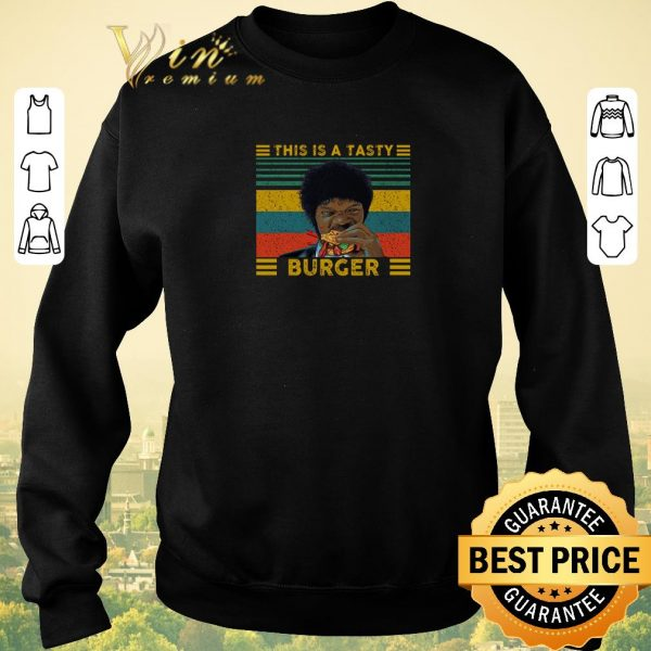 Pretty Vintage Pulp Fiction this is a tasty burger Samuel L. Jackson shirt sweater