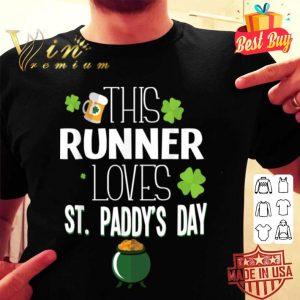 Runner St Patricks Day Race Leprechaun Running Gear shirt