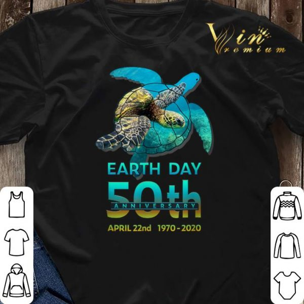 Sea Turtle earth day 50th anniversary april 22nd 1970-2020 shirt sweater