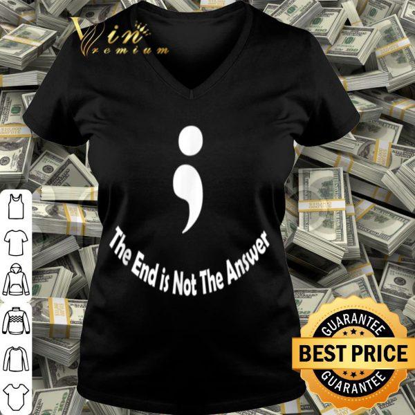 Semicolon Suicide Self-Harm Prevention Awareness shirt