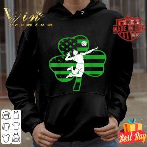 Shamrock Irish American Flag Volleyball St Patrick's day T-shirt