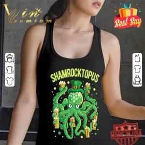 Shamrocktopus St Patricks Day Men Octopus Leprechaun Beer T-shirt