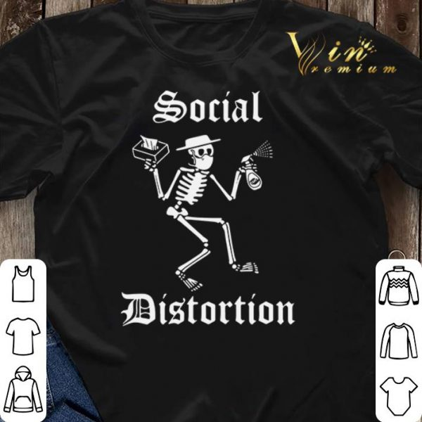 Skeleton Social Distortion Coronavirus shirt sweater